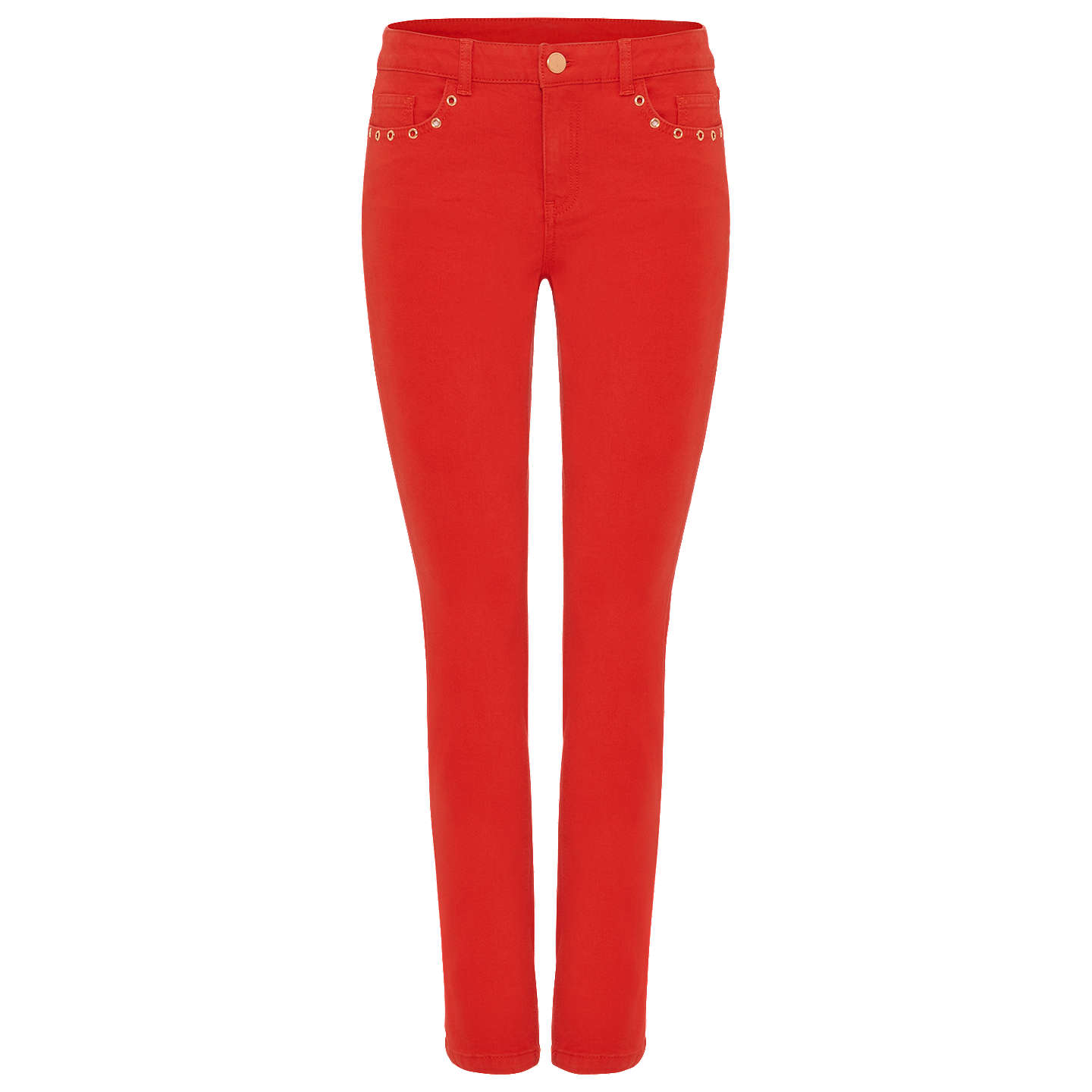 BuyPhase Eight Sasha Stud Jeans, Chilli Red, 8 Online at johnlewis.com