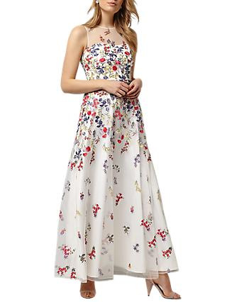 Phase Eight Collection 8 Anastacia Embroidered Dress, Ivory/Multi