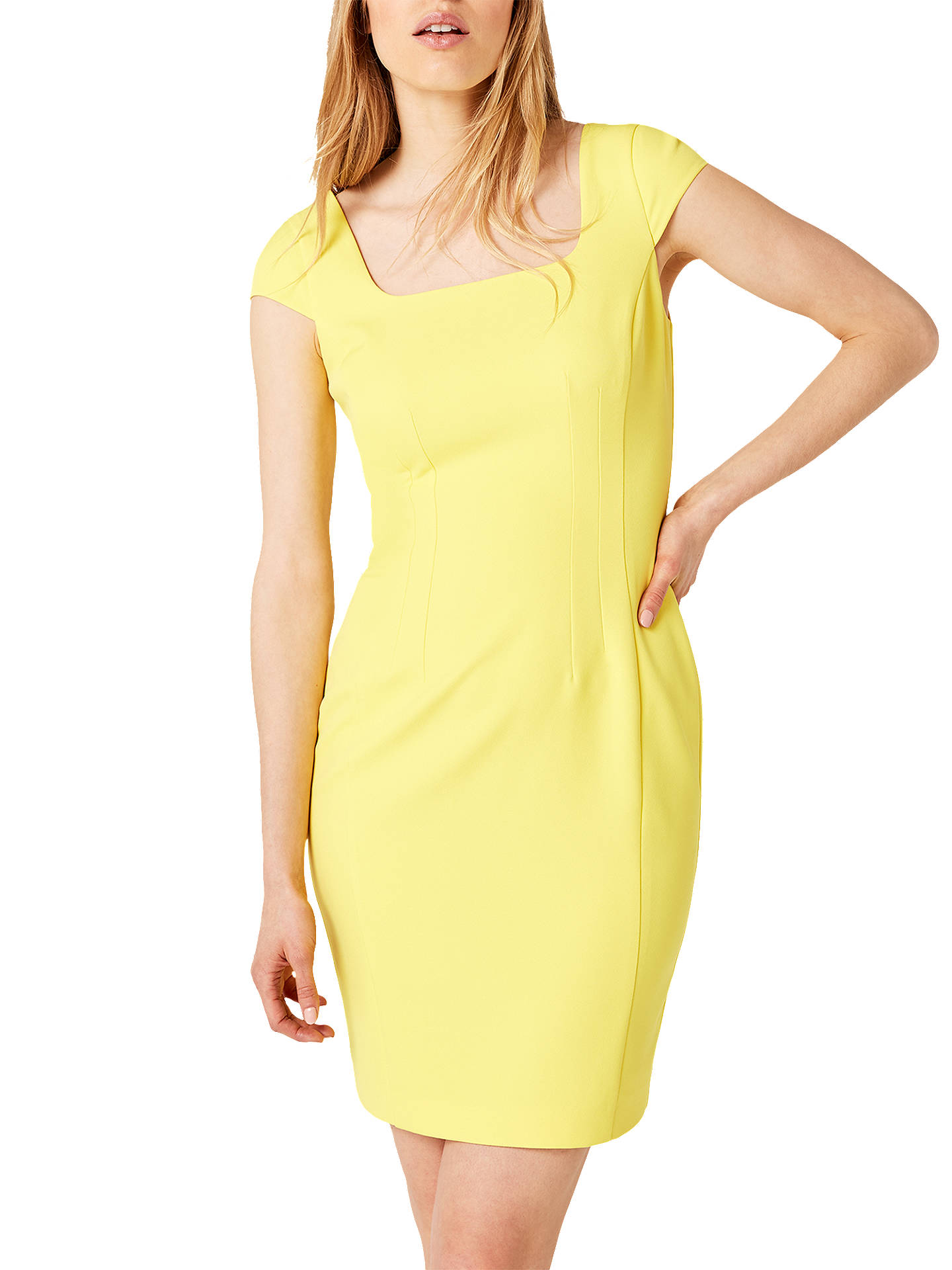 Yellow Fitted Dress