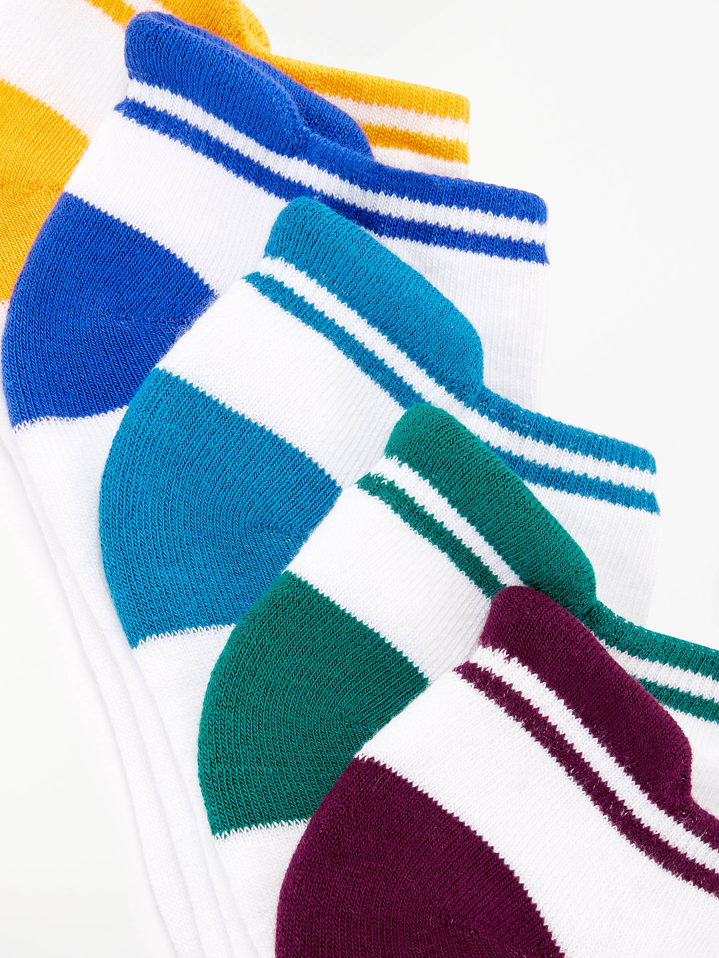 BuyJohn Lewis & Partners Cushioned Trainer Socks, Pack of 5, White, S Online at johnlewis.com