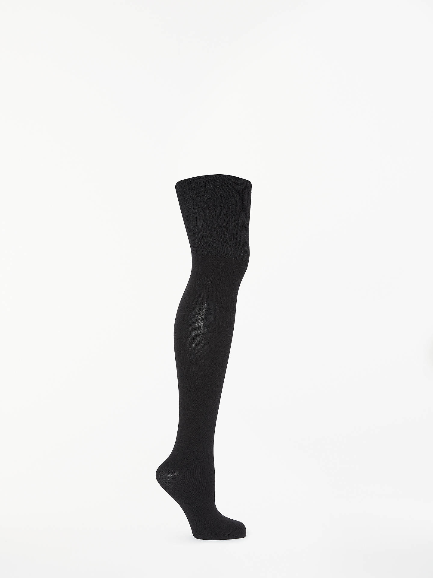 BuyJohn Lewis & Partners Egyptian Cotton Blend Bodyshaper Opaque Tights, Black, S Online at johnlewis.com
