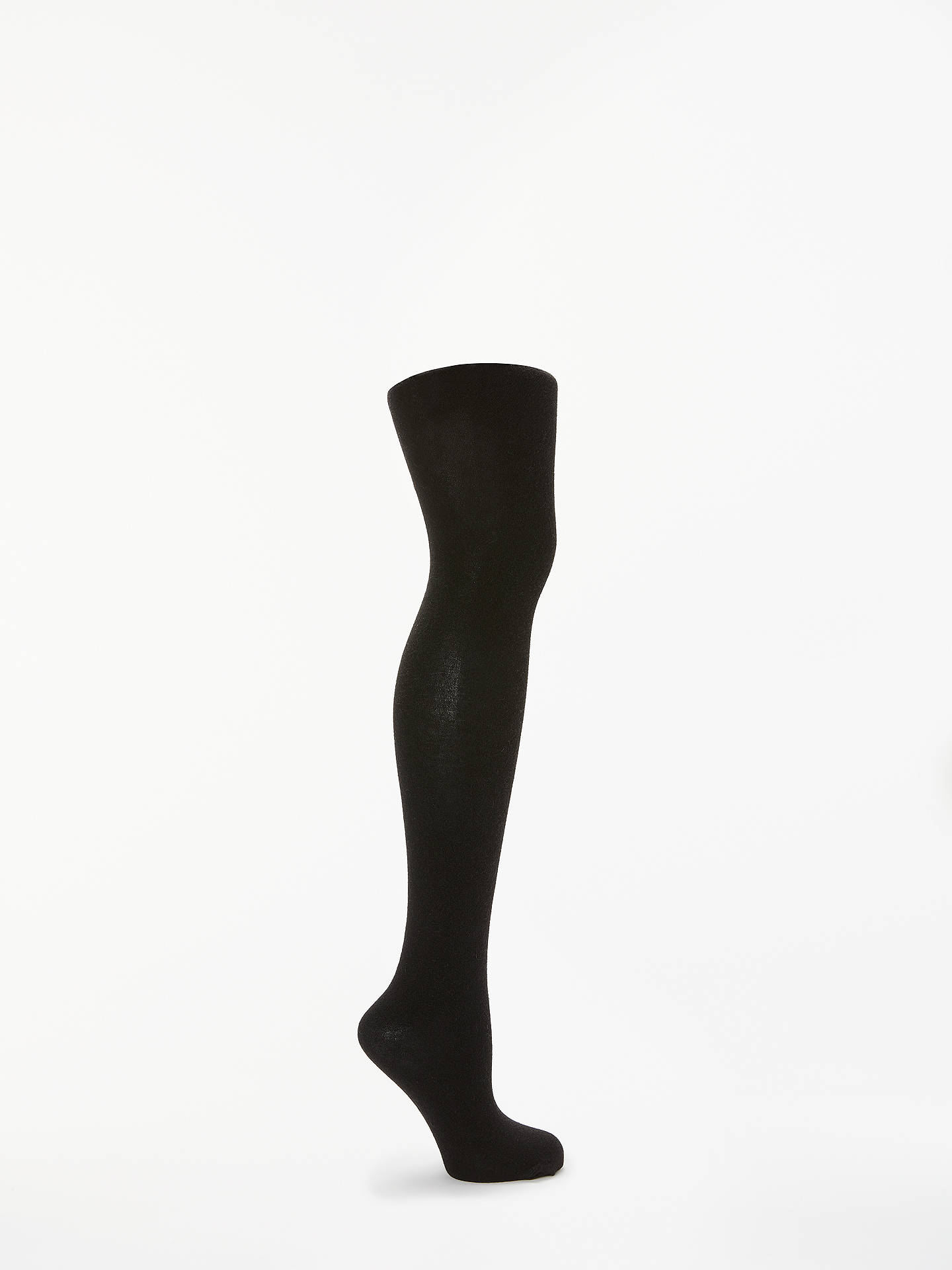 37056fcc1a188 Buy John Lewis & Partners Cashmere Mix Opaque Tights, Black, S Online at  johnlewis ...