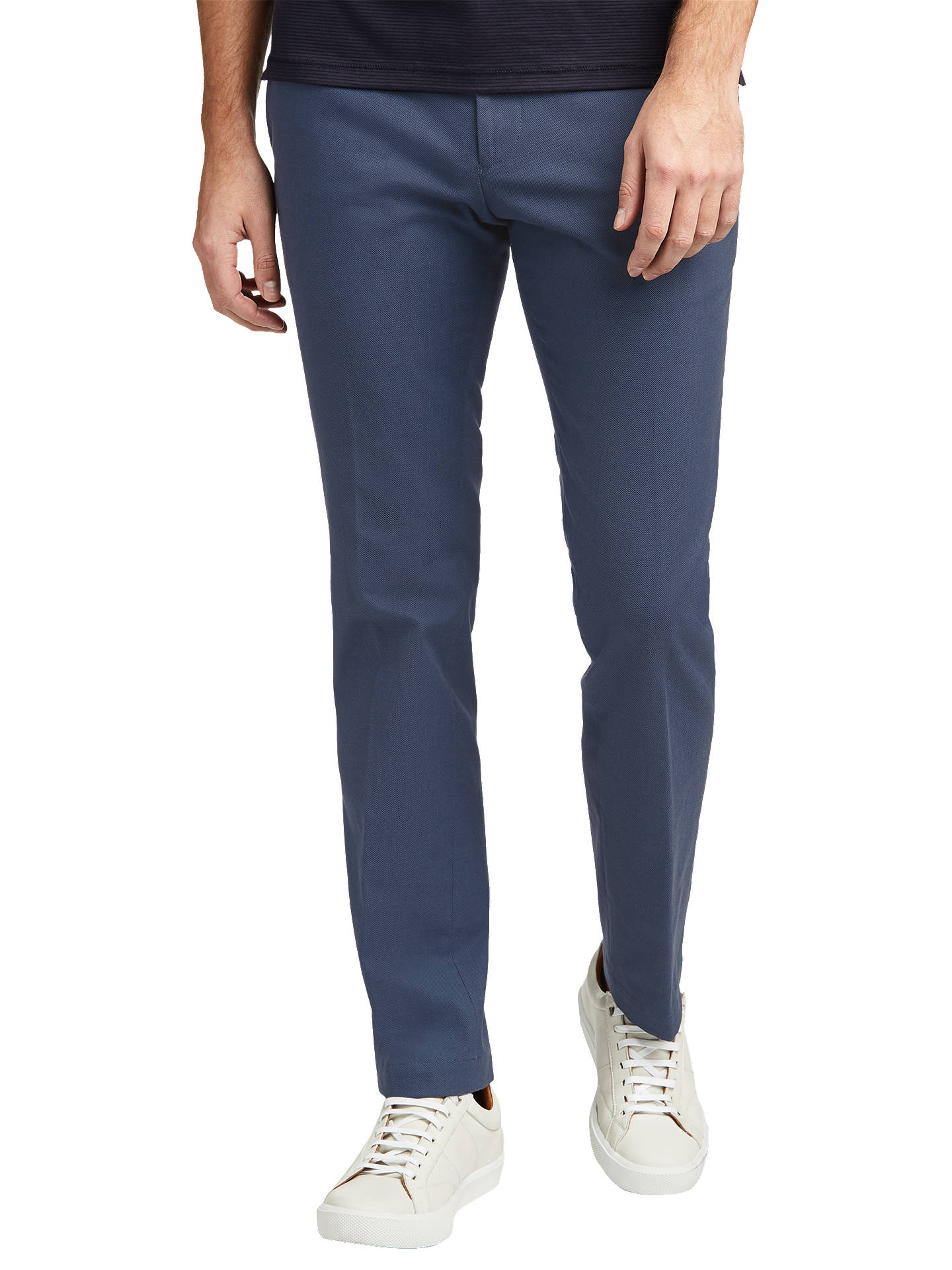 Buy BOSS Gerald Slim Fit Trousers, Blue, 30R Online at johnlewis.com
