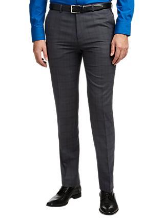 3e6b3e6eed HUGO by Hugo Boss Hets Virgin Wool Check Extra Slim Fit Trousers, Navy