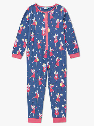 Buy John Lewis & Partners Girls' Christmas Fairy Jersey Onesie, Blue, 2 years Online at johnlewis.com