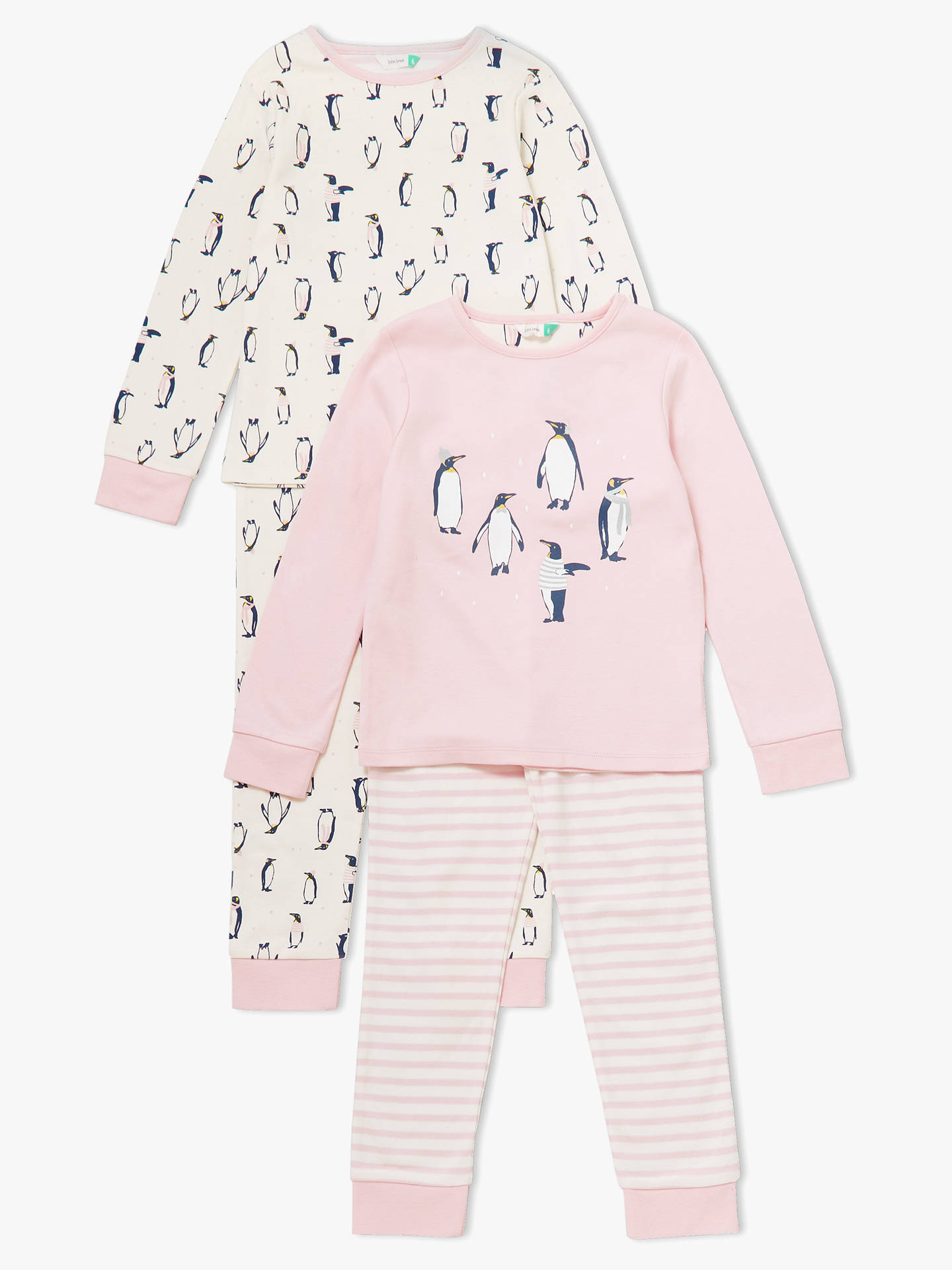 1bb49de27bc6 John Lewis   Partners Girls  Penguin Print Pyjamas