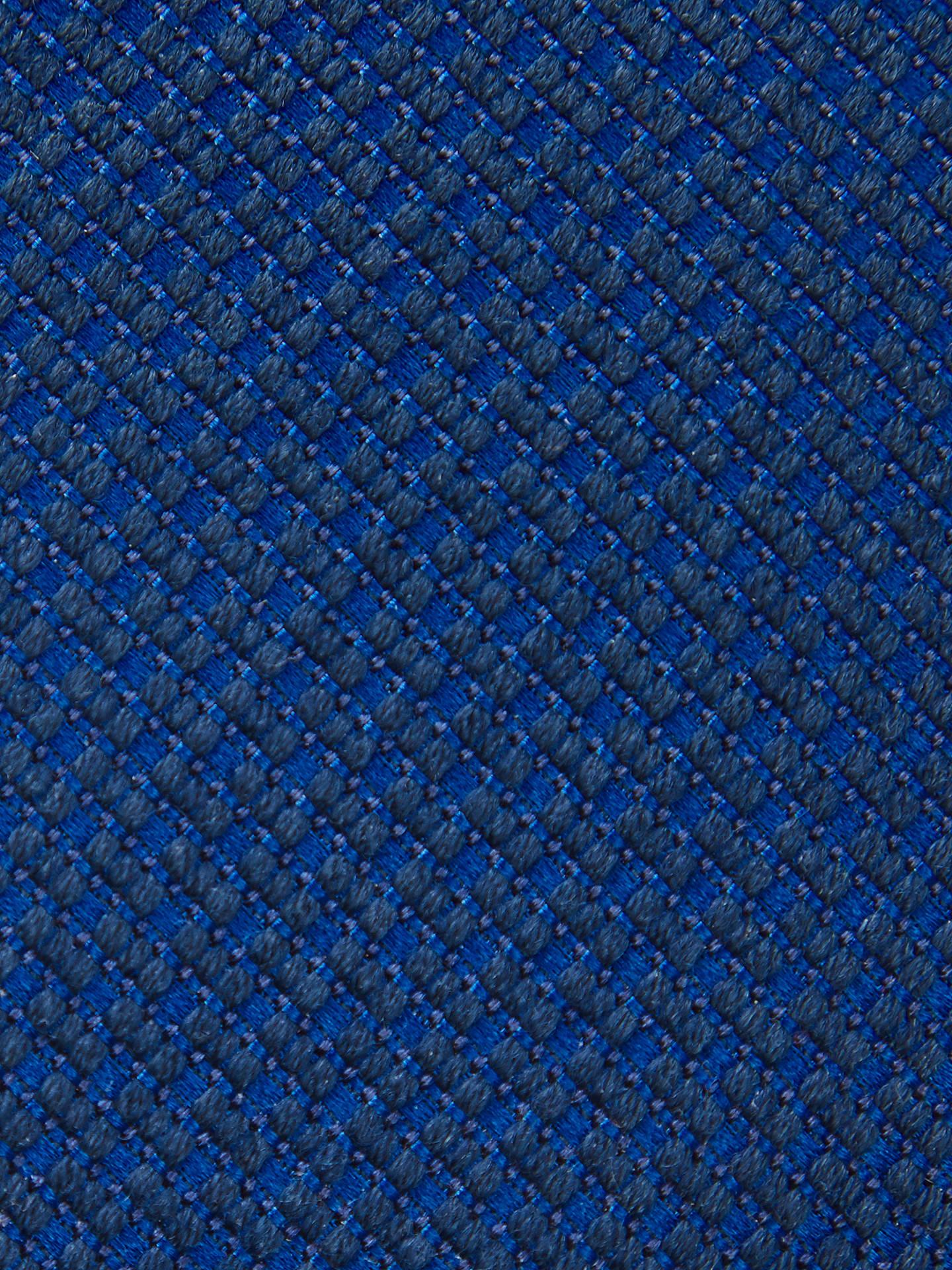 5098b1e6ac Buy HUGO by Hugo Boss Micro Jacquard Wool Silk Tie, Navy Online at  johnlewis.