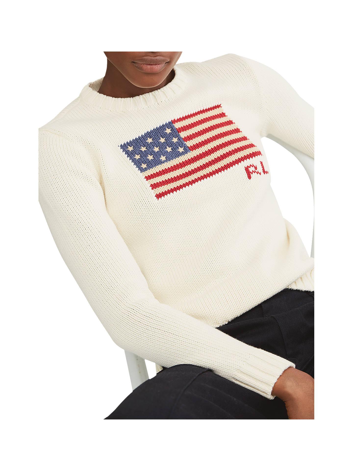 23b4d781d351 Polo Ralph Lauren Flag Cotton Jumper at John Lewis   Partners