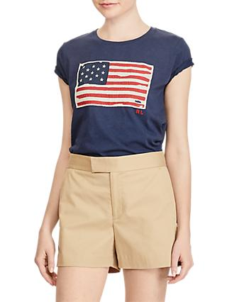 Polo Ralph Lauren Flag T-Shirt, Royal Blue