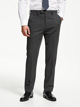 John Lewis & Partners Hopsack Wool Slim Fit Suit Trousers, Charcoal