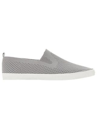 Dune Fabregas Fly Knit Slip On Trainers