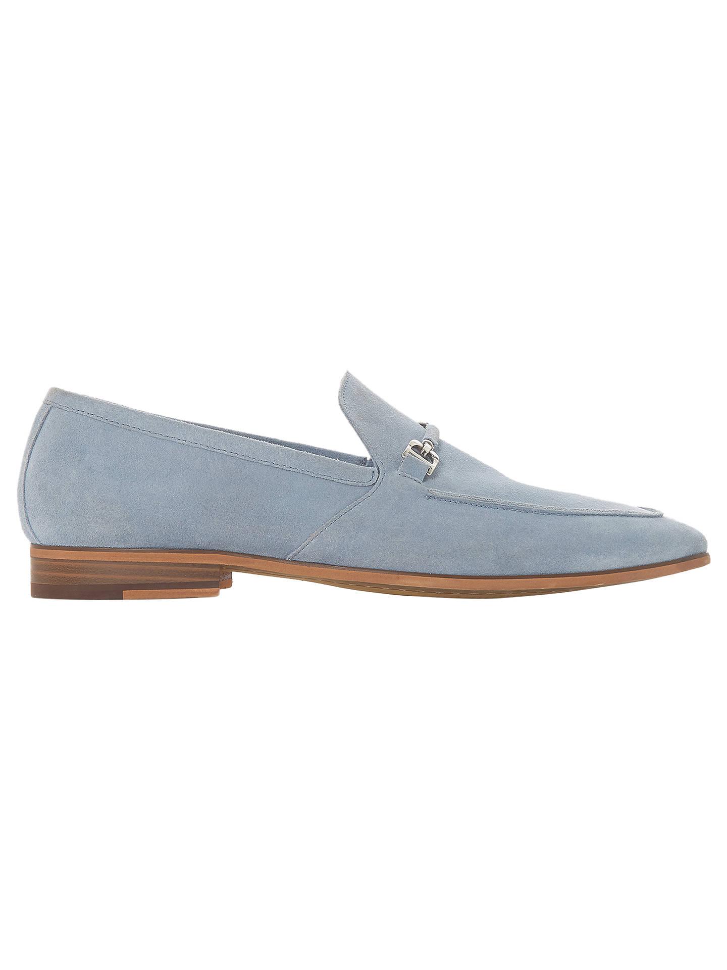 b17baaca6e97c Buy Dune Paulinho Suede Loafers, Light Blue, 8 Online at johnlewis.com ...
