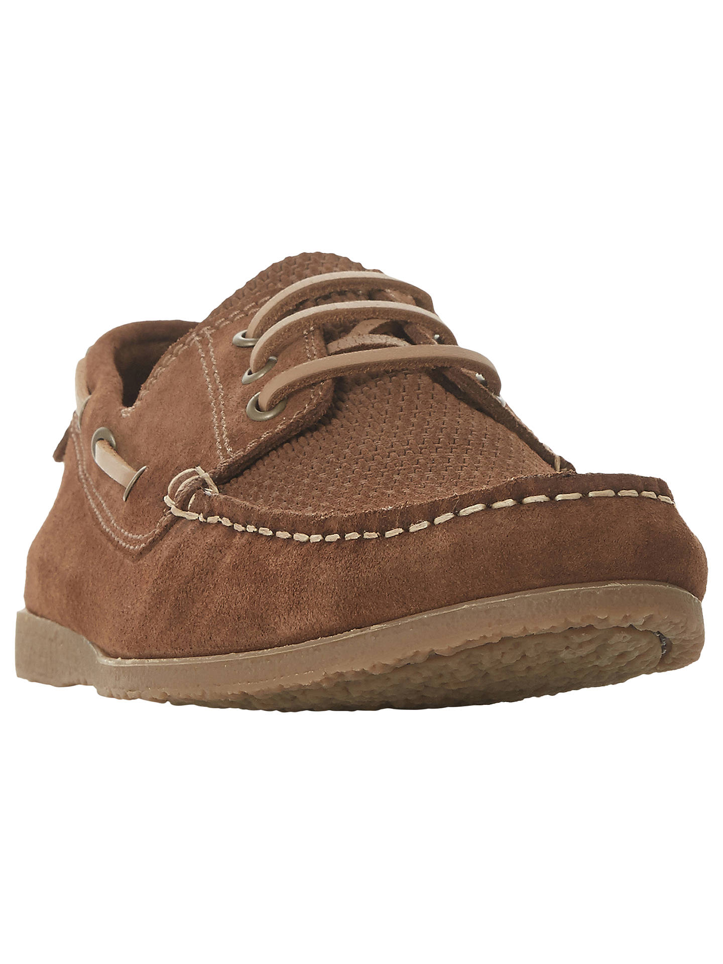 BuyBertie Battalion Classic Boat Shoes, Tan Suede, 7 Online at johnlewis.com