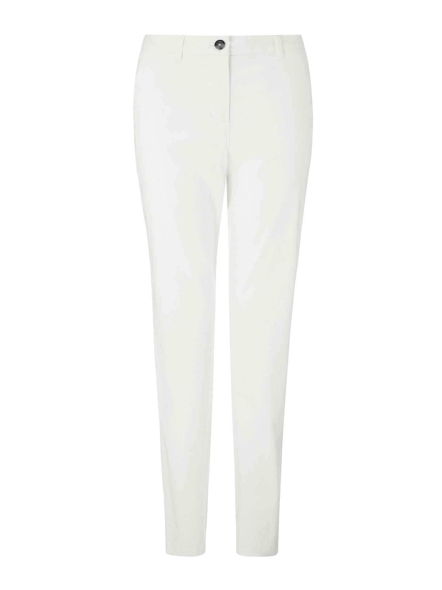BuyBoden Rachel Spot Chino Trousers, White, 8 Online at johnlewis.com