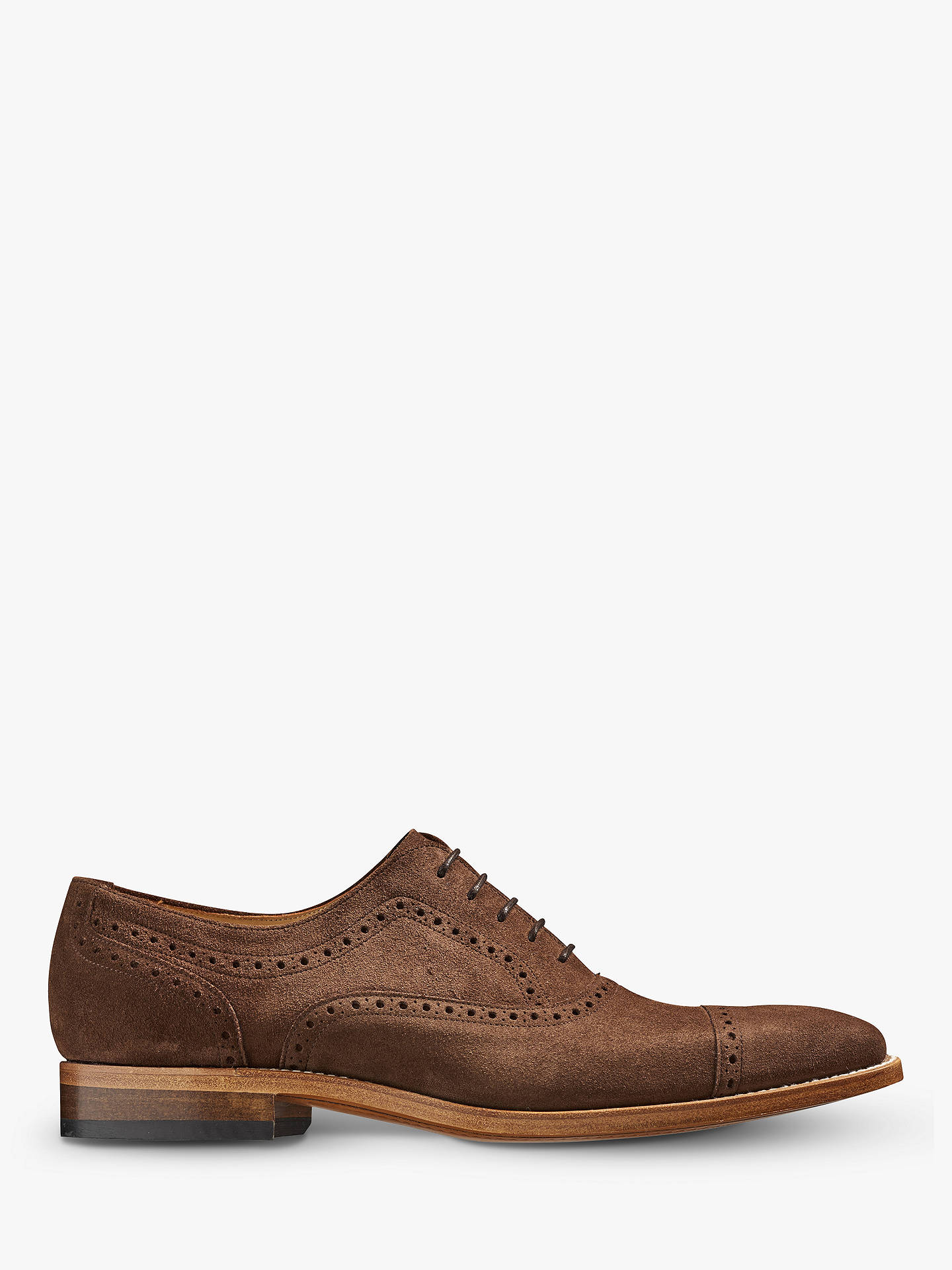 BuyBarker Luke Suede Goodyear Welted Brogue Shoes, Castagnia Suede, 8 Online at johnlewis.com