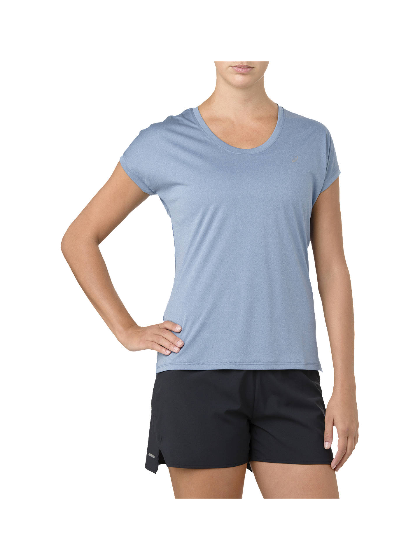 BuyASICS Cap-Sleeve Running Top, Azalea, S Online at johnlewis.com