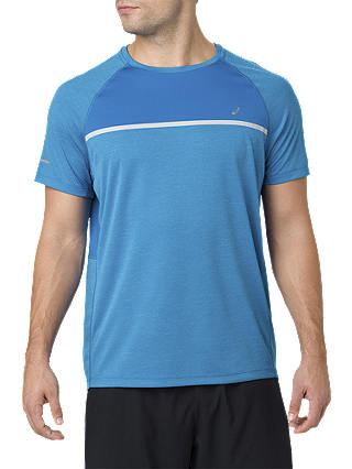 Buy ASICS Seamless Short Sleeve Running T-Shirt, Race Blue, S Online at johnlewis.com