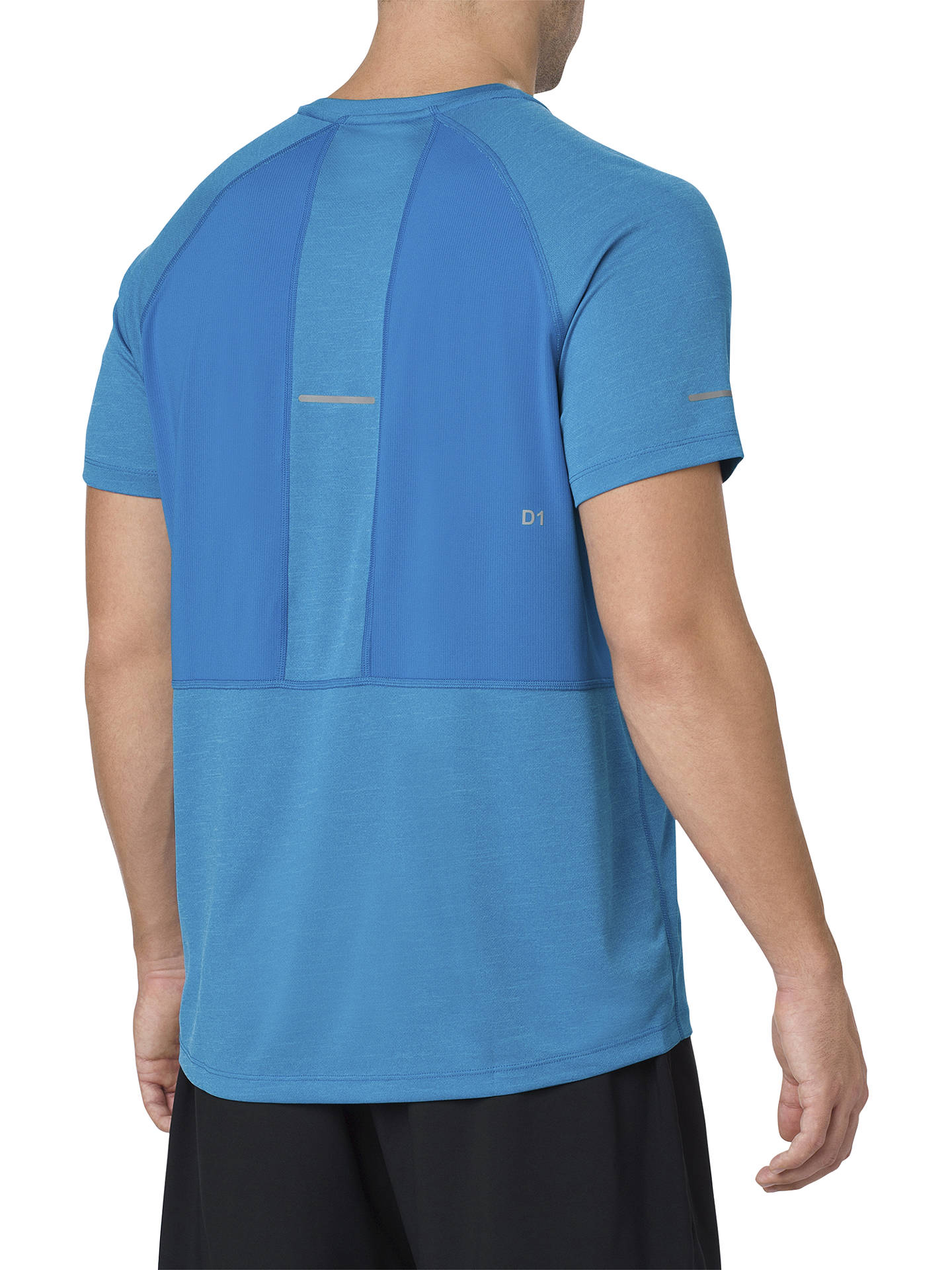 BuyASICS Seamless Short Sleeve Running T-Shirt, Race Blue, S Online at johnlewis.com