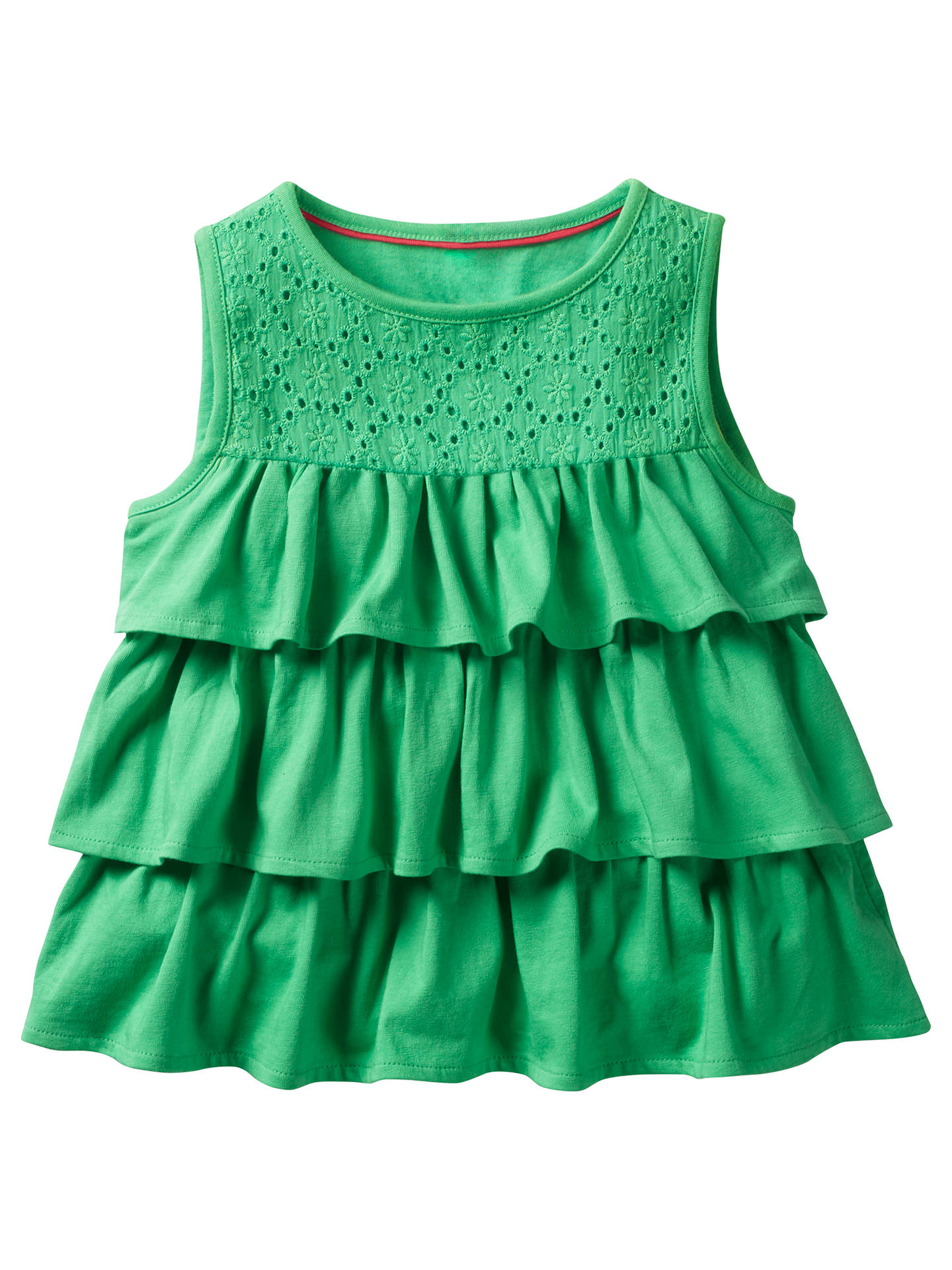 9b7ad26d4744fe Buy Mini Boden Girls' Ruffle Top, Green, 2-3 years Online at