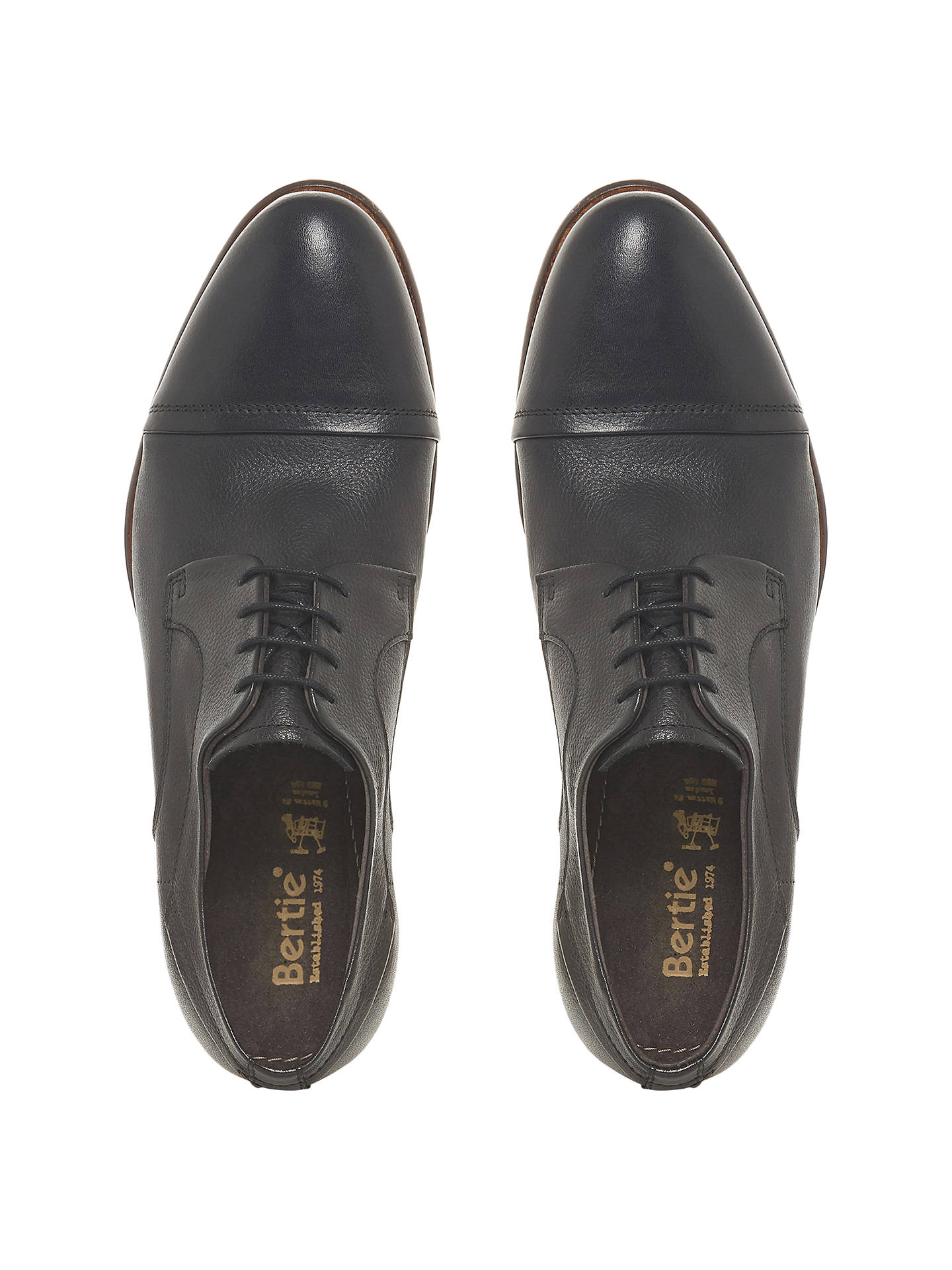 BuyBertie Parallel Stitched Toe Cap Gibson Shoes, Black, 7 Online at johnlewis.com