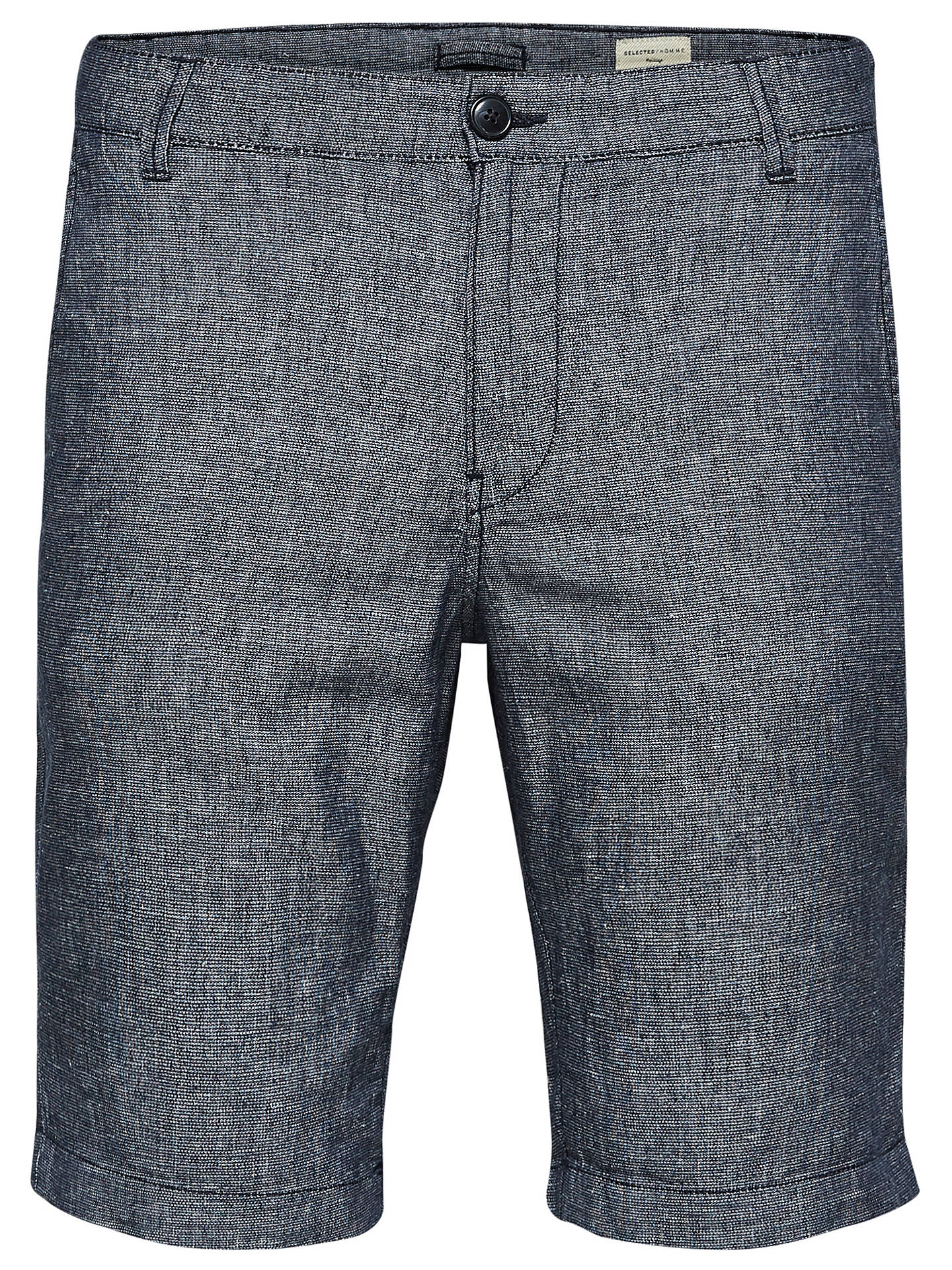 BuySelected Homme Shhparis Linen Shorts, Dark Sapphire, M Online at johnlewis.com