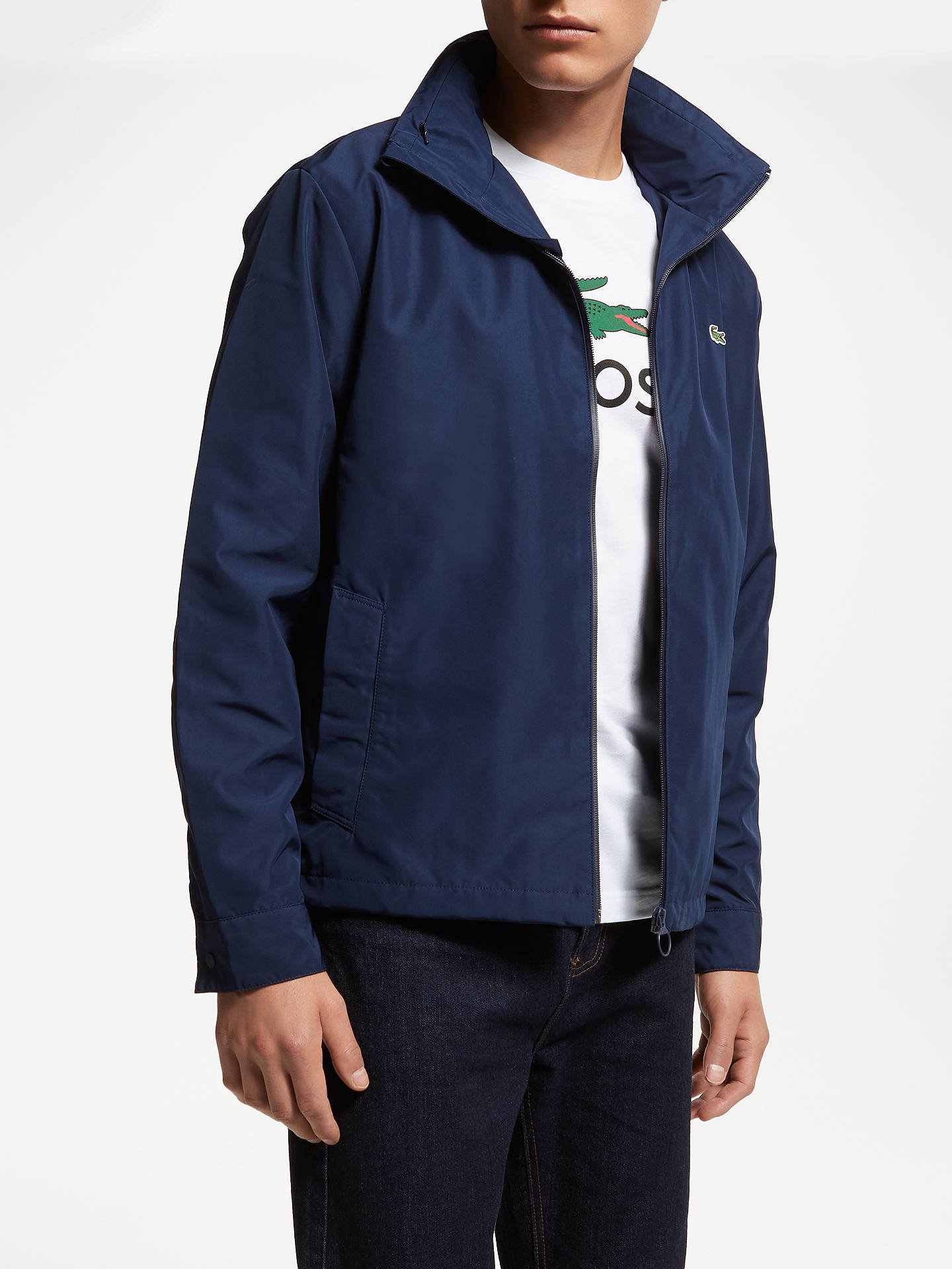 0104ae61 Lacoste Long Sleeve Jacket, Navy at John Lewis & Partners