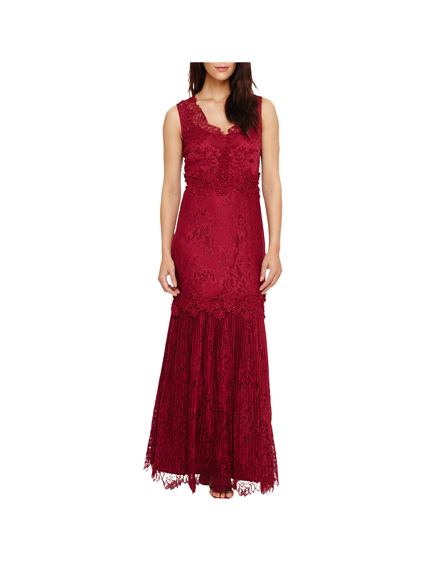 Buy Phase Eight Collection 8 Artemis Lace Maxi Dress, Magenta, 6 Online at johnlewis.com