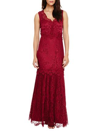 Phase Eight Collection 8 Artemis Lace Maxi Dress, Magenta