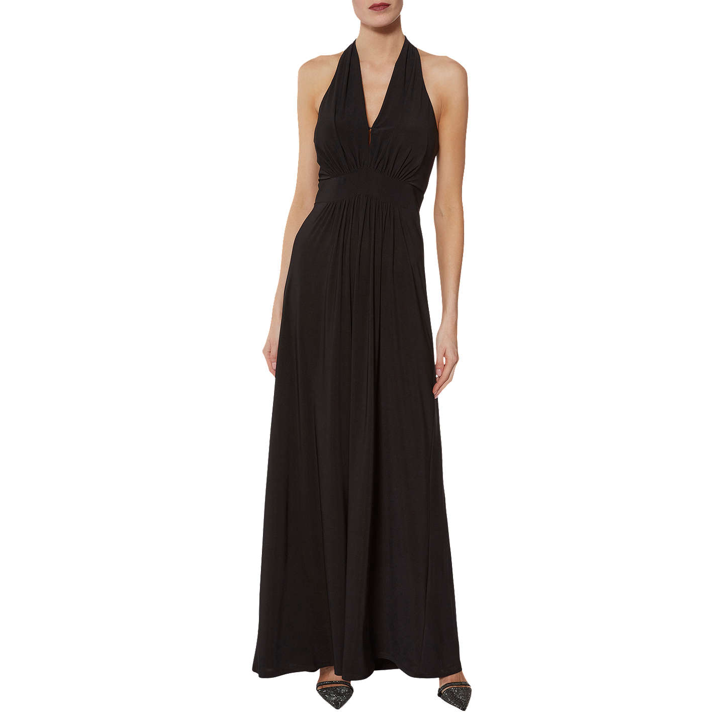 Gina Bacconi Serena Halterneck Dress, Black by Gina Bacconi