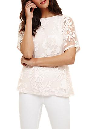 Phase Eight Beth Bubble Top, Pale Pink
