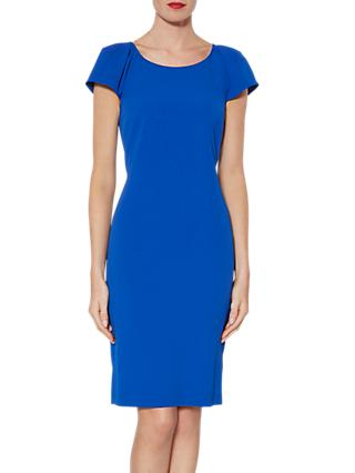 Gina Bacconi Fluted Sleeve Dress, Royal Blue