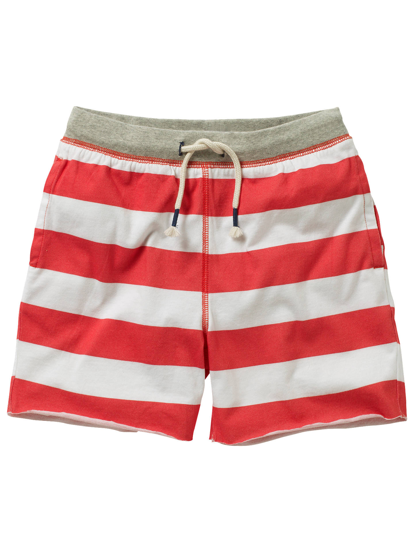Mini Boden Boys Slub Sweat Shorts Red 3 Years Online At Johnlewis