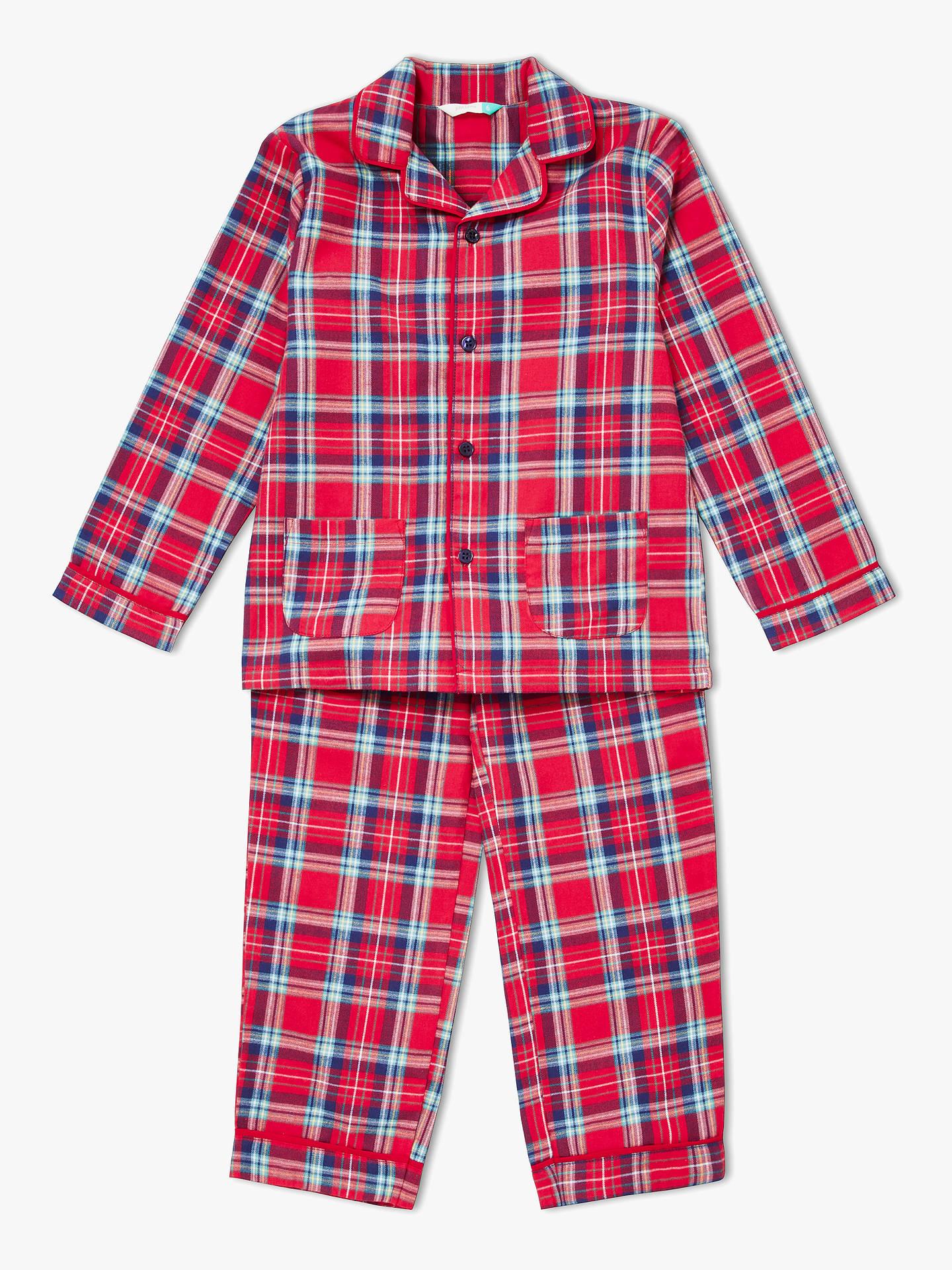 35d2d91e7474 Buy John Lewis   Partners Children s Christmas Plaid Pyjamas