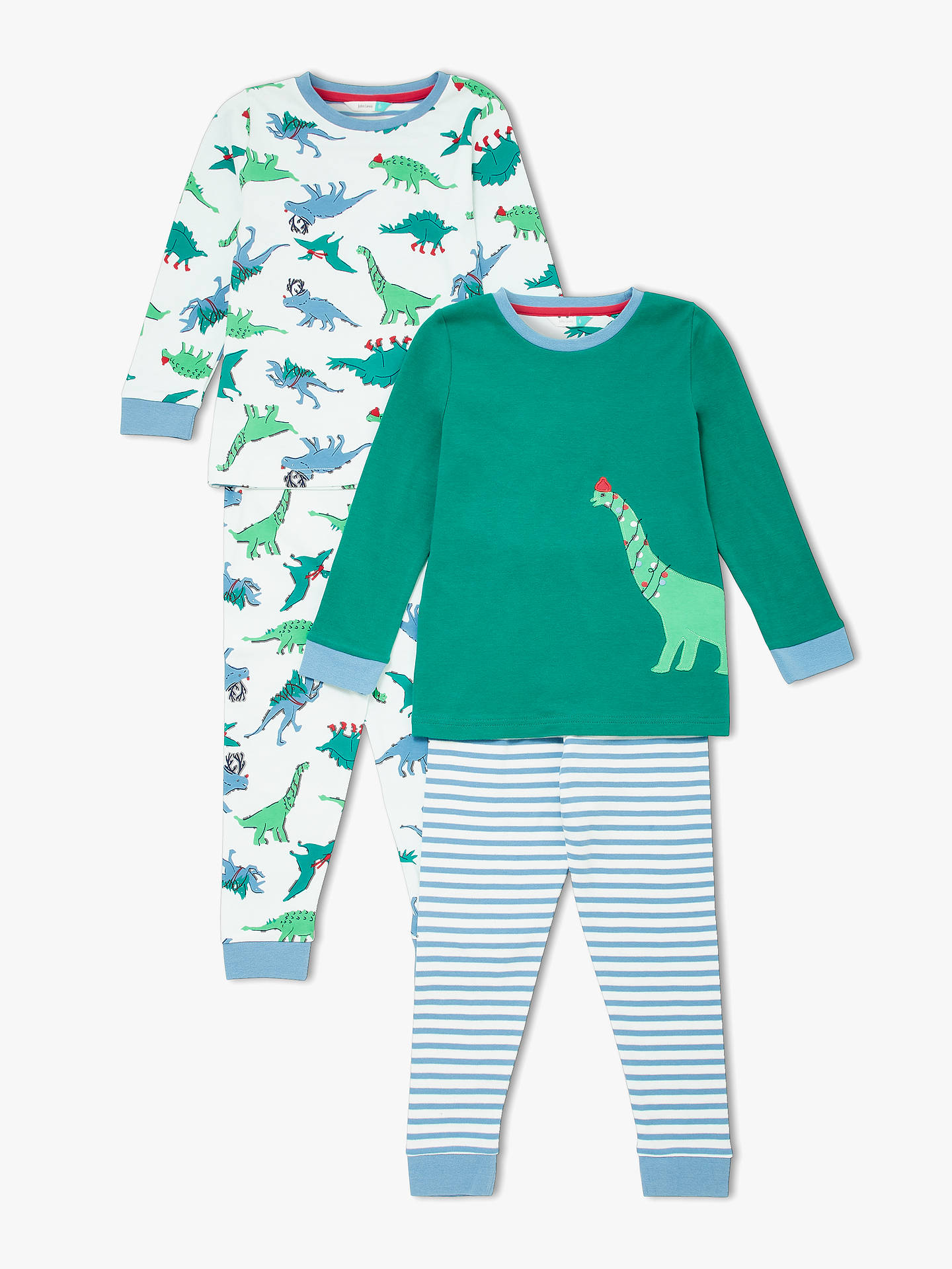 d3c814e52958 Buy John Lewis   Partners Boys  Christmas Dinosaur Pyjamas