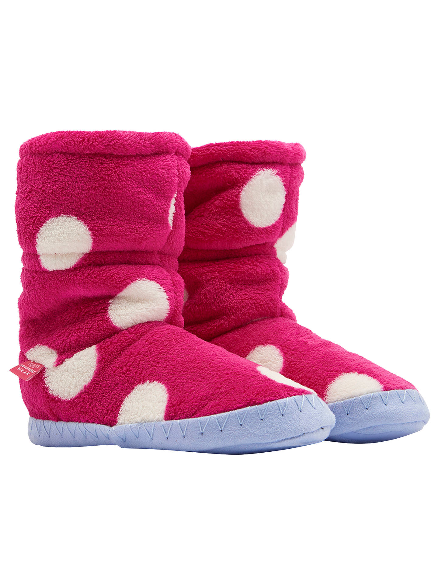 BuyBaby Joule Padabout Ankle Slippers, Raspberry Rose, S Online at johnlewis.com