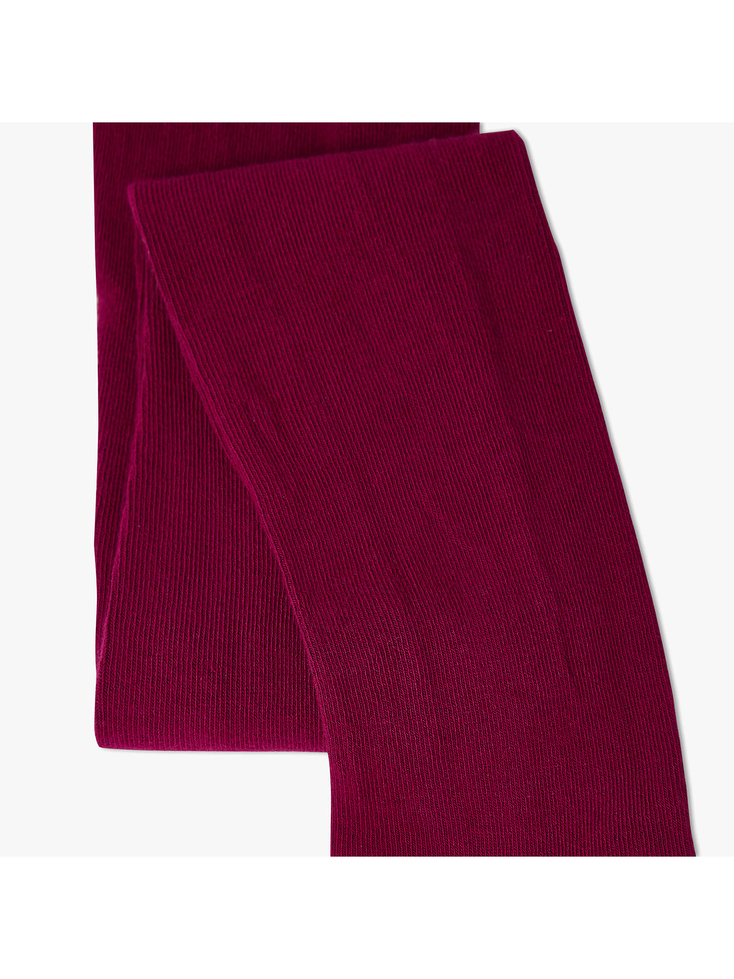 BuyJohn Lewis & Partners Girls' Single Tights, Berry, 2-3 years Online at johnlewis.com