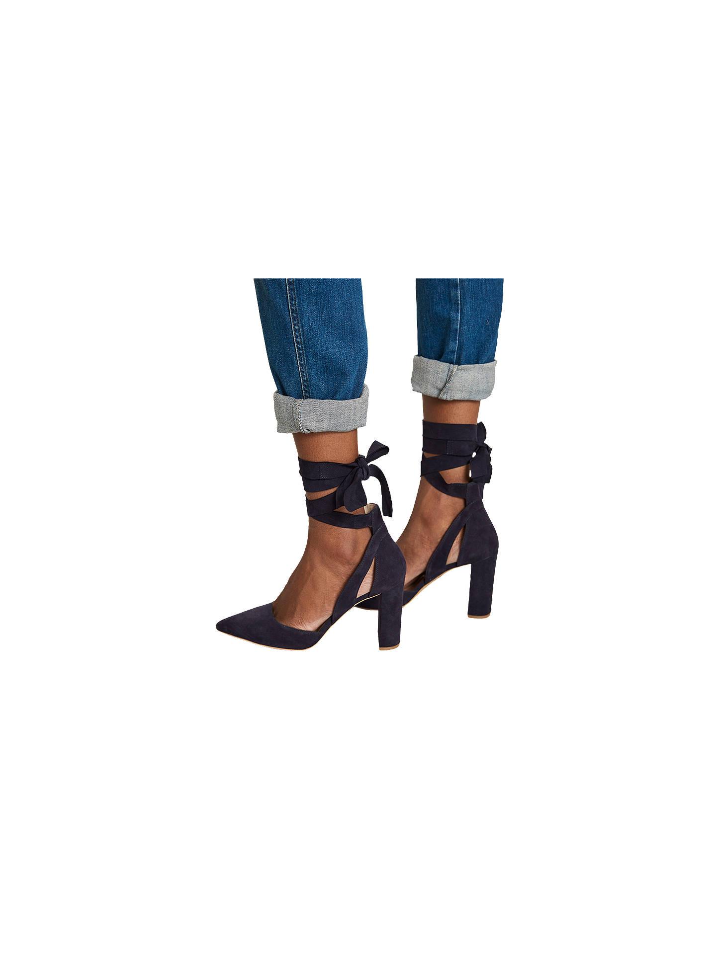 04af19ead2f ... Buy Mint Velvet Emily Tie Block Heeled Court Shoes