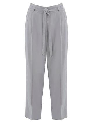 Mint Velvet Belted Tapered Trousers, Dove