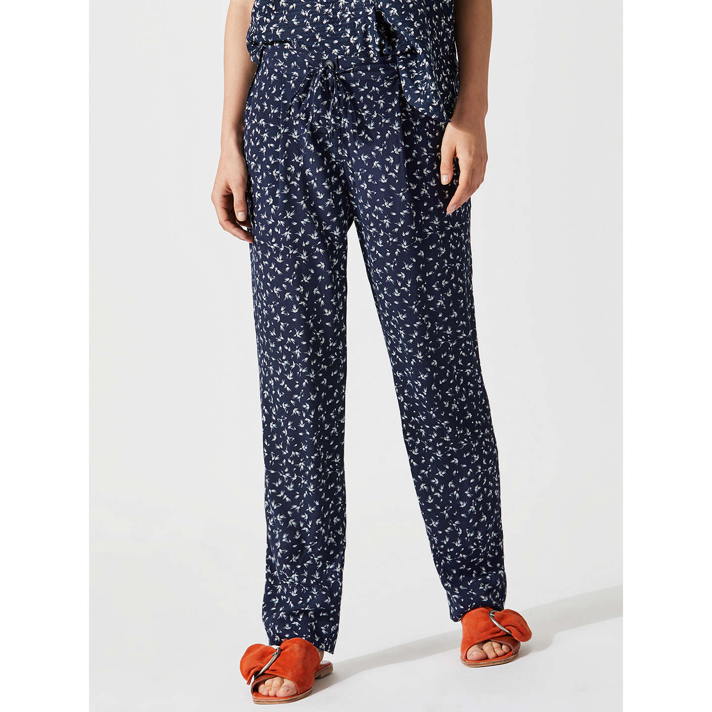 BuyJigsaw Mini Splash Trousers, Navy, 14 Online at johnlewis.com
