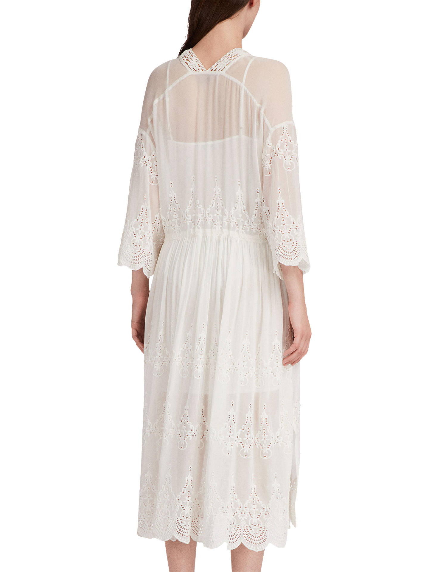 b1e423739ef AllSaints Aileen Zinnia Broderie Dress at John Lewis   Partners