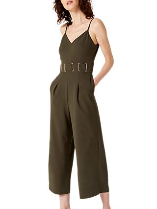Damsel in a Dress Loreta Eyelet Detail Jumpsuit, Khaki