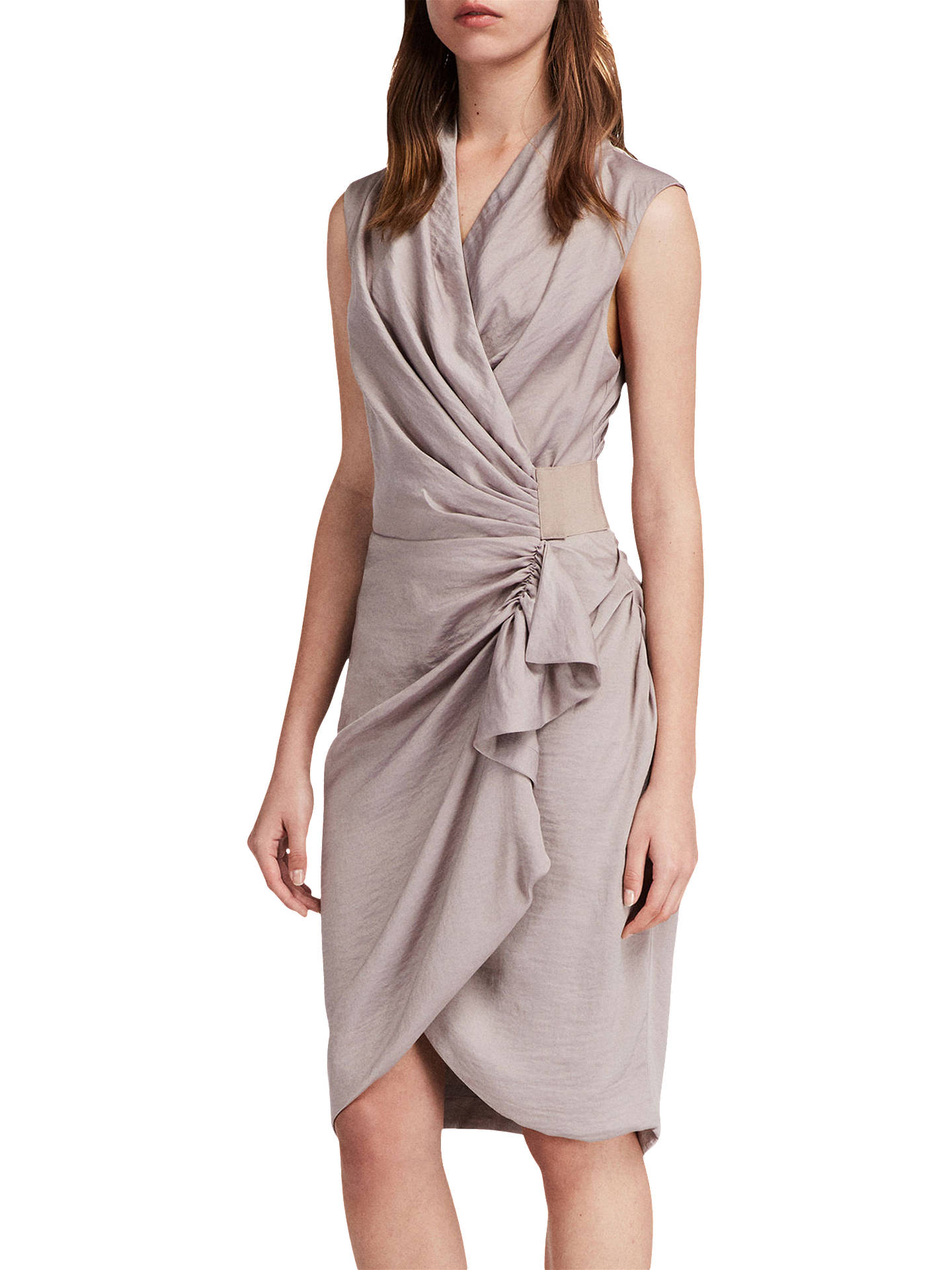 BuyAllSaints Cancity Dress, Pearl Grey, 6 Online at johnlewis.com