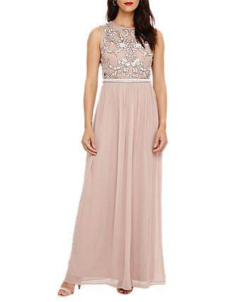 Phase Eight Collection 8 Zahara Embellished Dress, Nude/White