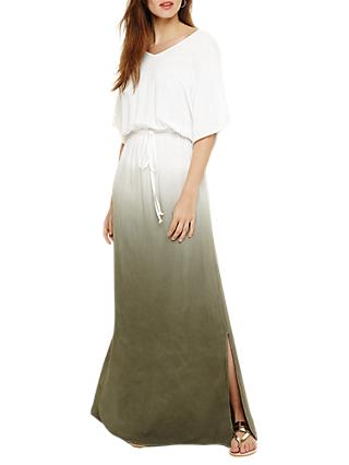 Phase Eight Dip Dye Maxi Dress, Ivory Multi