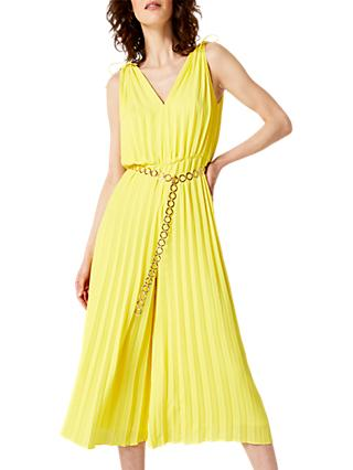 Damsel in a Dress Franky Pleat Belted Jumpsuit, Canary Yellow