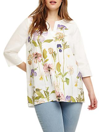 Studio 8 Sophia Floral Top, White/Multi