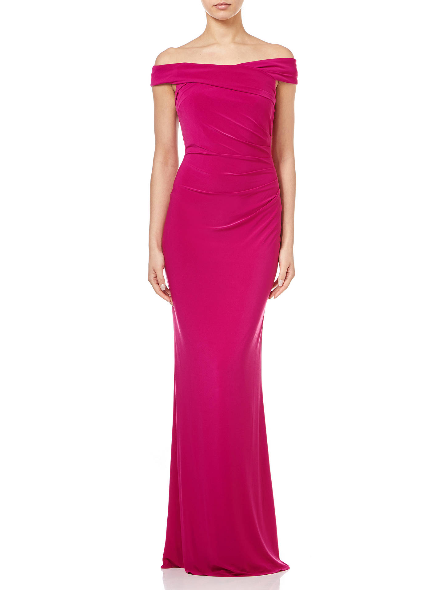 0f61ea8580bd Buy Adrianna Papell Off the Shoulder Jersey Gown, Bright Syrah, 18 Online  at johnlewis ...
