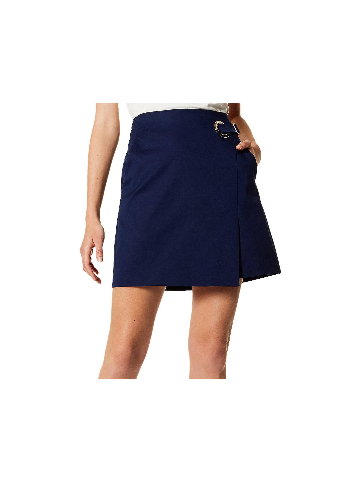 101a89b689 Buy Karen Millen Eyelet Wrap Skirt, Navy, 6 Online at johnlewis.com ...