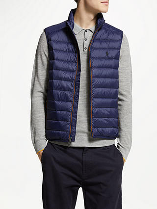 Buy Polo Ralph Lauren Packable Down Gilet, French Navy, M Online at johnlewis.com