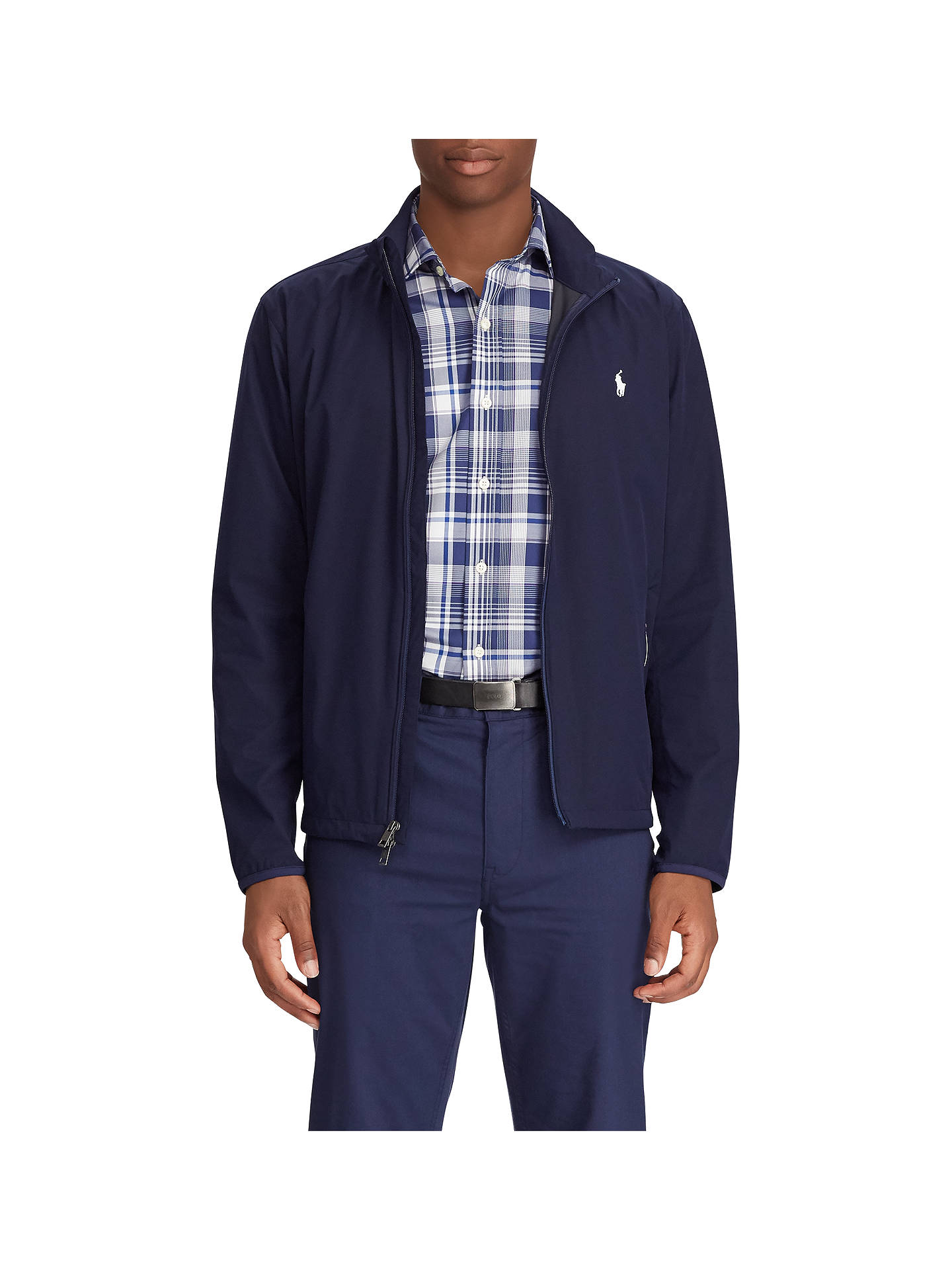 Buy Polo Golf by Ralph Lauren Hooded Packable Anorak, French Navy, S Online at johnlewis.com